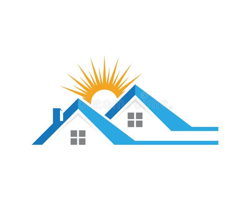 Conception de logo de propriété et de construction illustration libre de droits