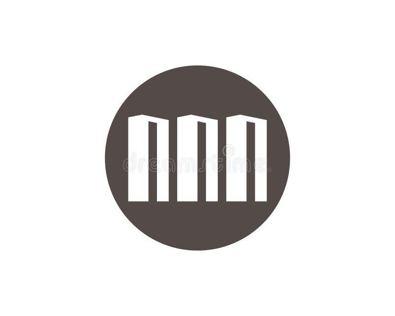 Conception de logo de propri?t? et de construction illustration libre de droits