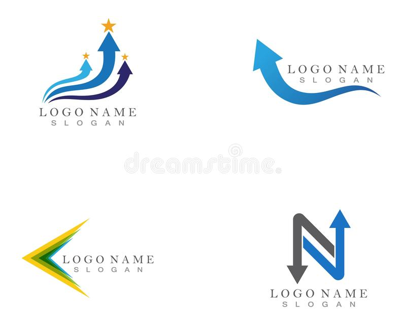 Conception de Logo Template d'ic?ne d'illustration de vecteur de fl?che illustration de vecteur