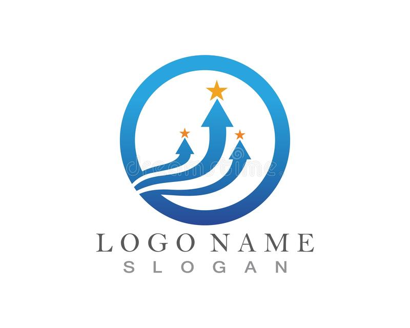 Conception de Logo Template d'ic?ne d'illustration de vecteur de fl?che illustration stock