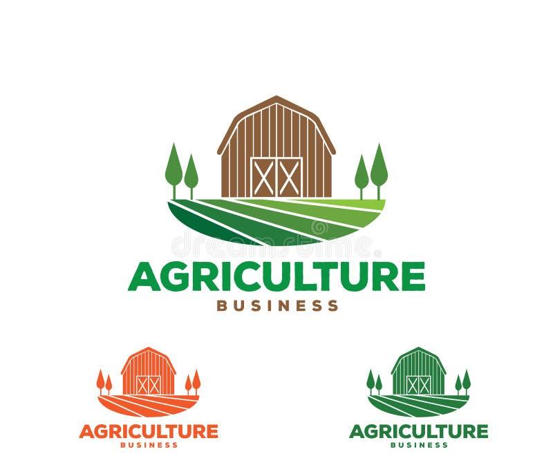 Conception de logo de vecteur et illustration des affaires d'agriculture, société, recherche, récolte, usine, technologie illustration de vecteur
