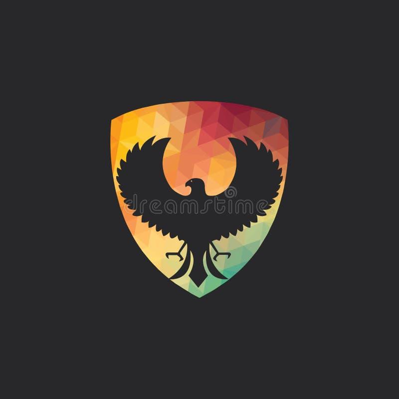 Conception de logo de vecteur de faucon illustration libre de droits