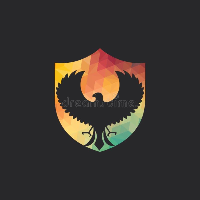 Conception de logo de vecteur de faucon illustration stock