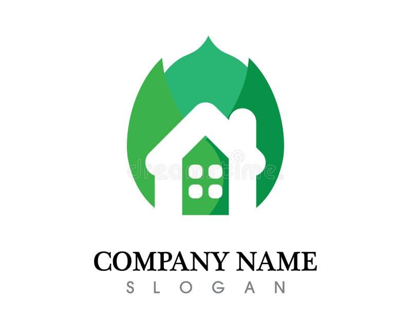 Conception de logo de vecteur de feuille d'arbre, concept qui respecte l'environnement illustration stock