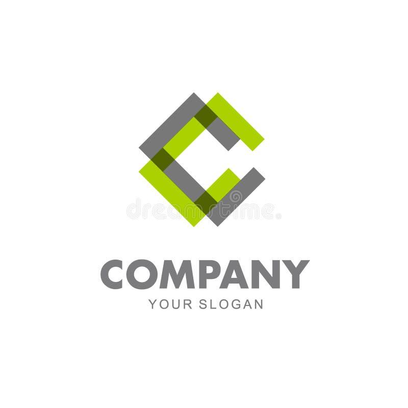 Conception de logo de vecteur pour des affaires Icône de lettre de C illustration stock