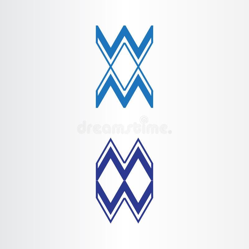 Conception de logo de wm de lettre pour votre société Pays de rappe de couleur de busines d'Internet de Web de course de plan?te  illustration de vecteur