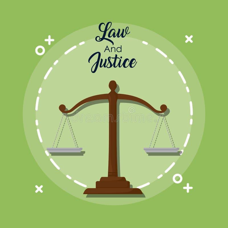 Conception de loi et de justice illustration stock