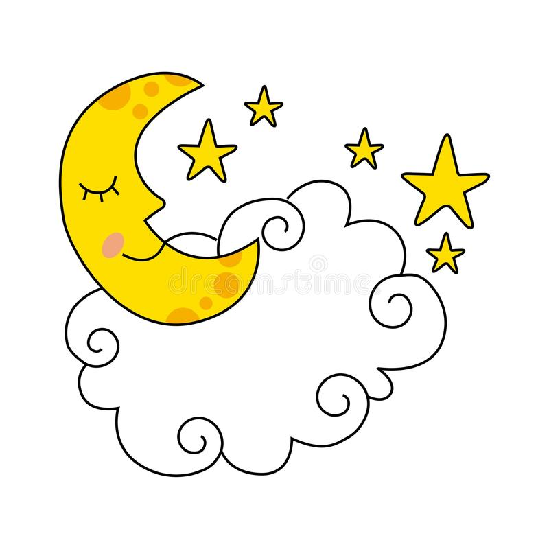 Conception de lune illustration stock