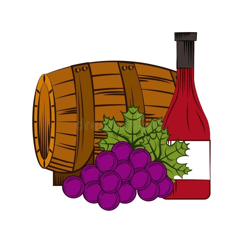 Conception de maison de vin illustration stock