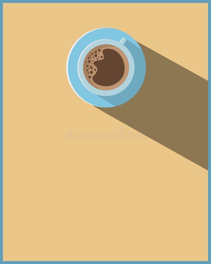 Conception de maquette de tasse de café pour la carte postale et l'affiche de kit de media de couvertures de magazine de bon d'in illustration de vecteur