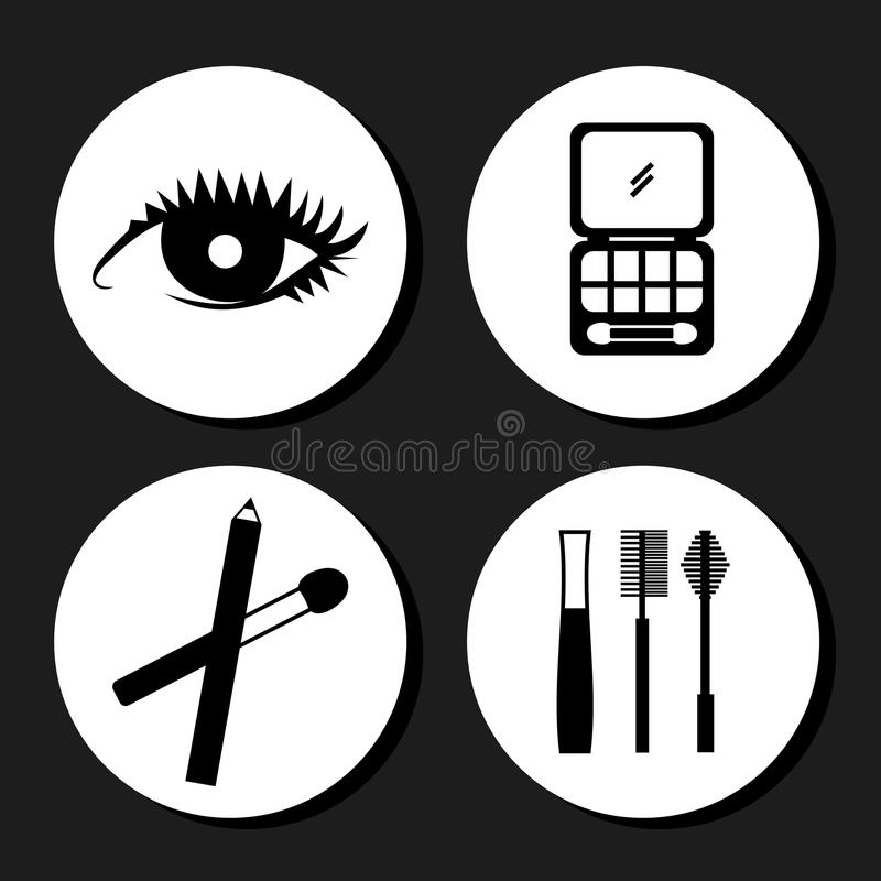 Conception de maquillage illustration stock