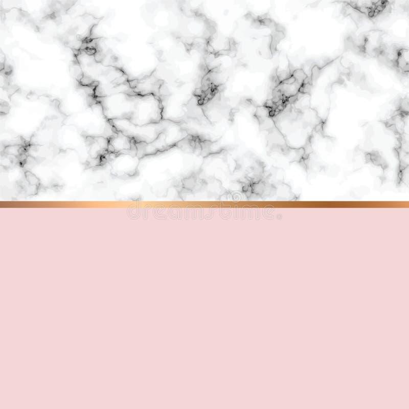 Conception de marbre de texture de vecteur avec les lignes géométriques d'or, surface de marbrure noire et blanche, fond luxueux  illustration stock