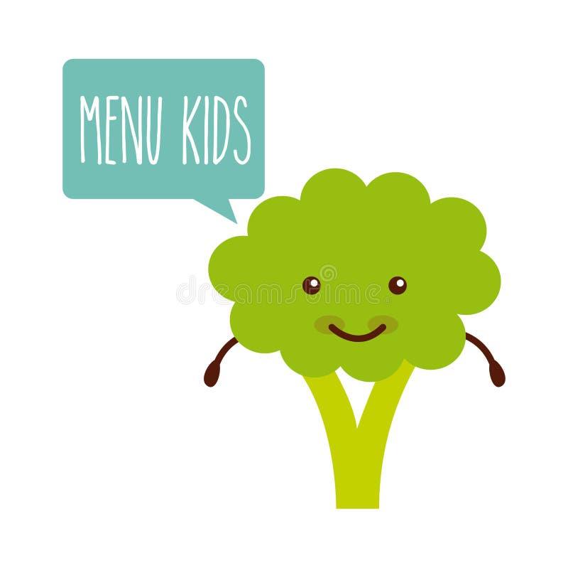 Conception de menu d'enfants illustration de vecteur