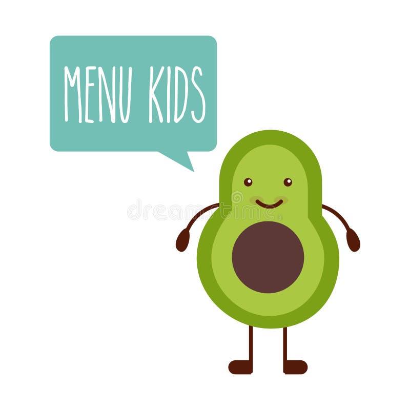 Conception de menu d'enfants illustration libre de droits