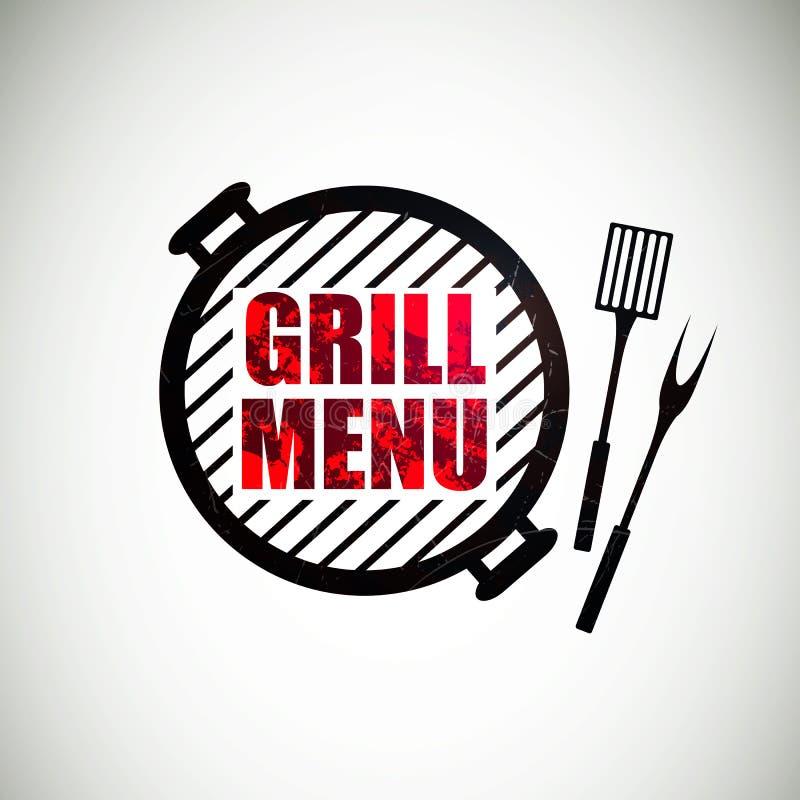 Conception de menu de gril illustration stock