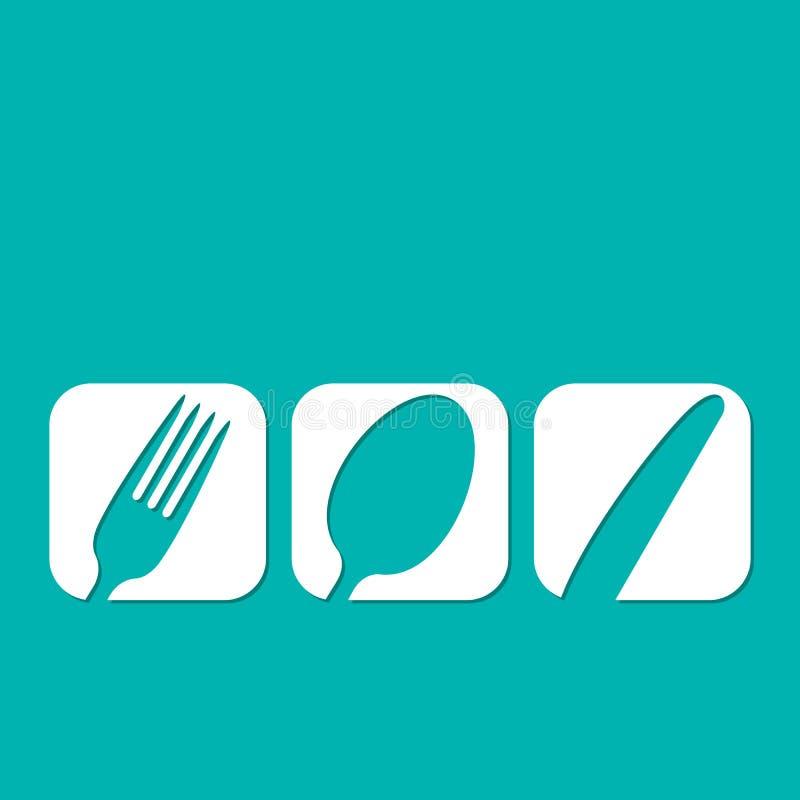 Conception de menu de restaurant illustration stock