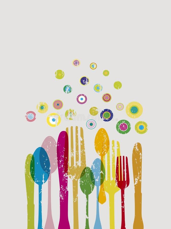 Conception de menu de restaurant illustration de vecteur