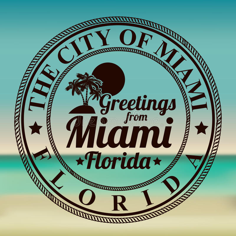 Conception de Miami illustration stock