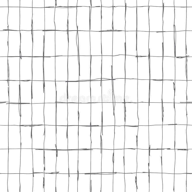 Conception de modèle de Seamlaess avec les lignes tirées par la main artistiques illustration de vecteur