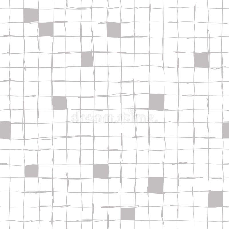 Conception de modèle de Seamlaess avec les lignes tirées par la main artistiques illustration libre de droits