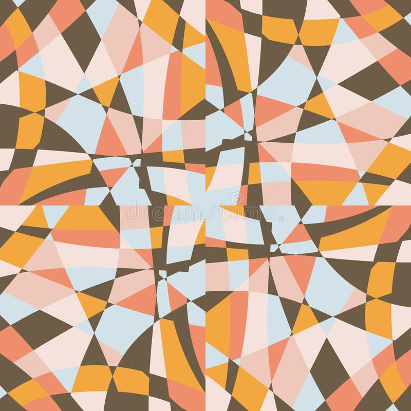 Conception de modèle de vecteur de fond de tuile de mosaïque de kaléidoscope illustration stock