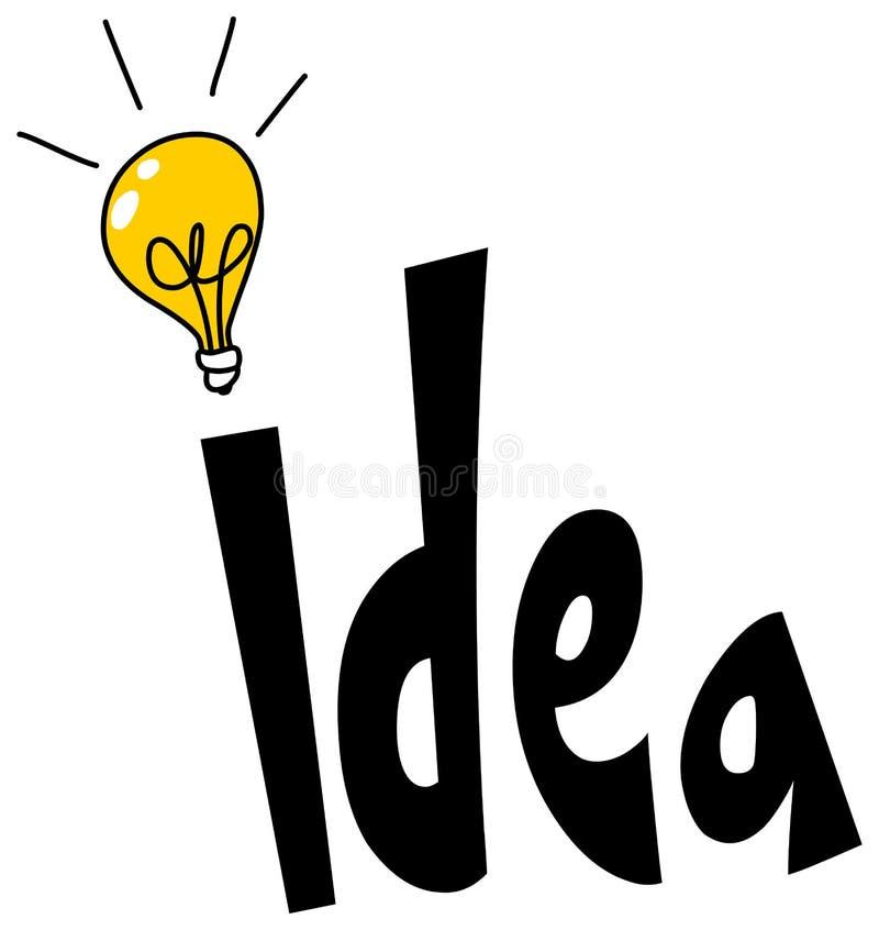 Conception de mot d'idée illustration libre de droits