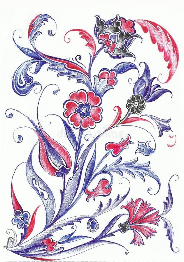 Conception de motif de tuile de tabouret illustration stock
