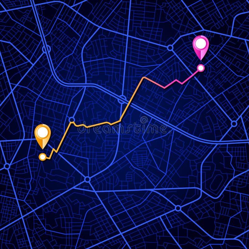 Conception de navigation de carte de ville illustration stock