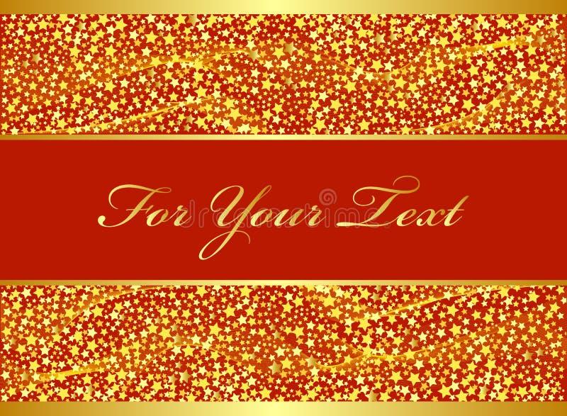 conception de Noël d'or illustration libre de droits