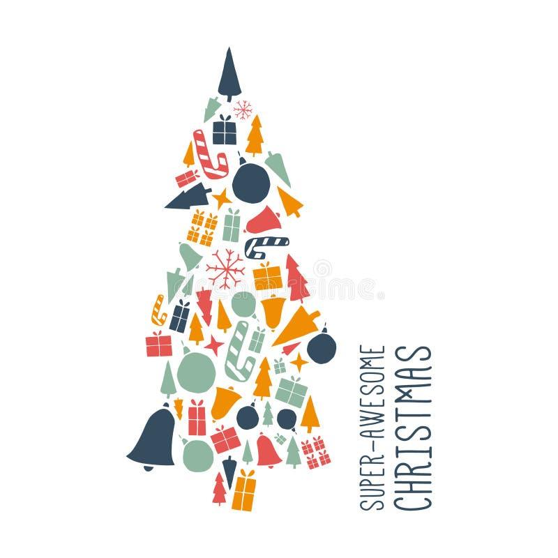 Conception de Noël de vecteur illustration libre de droits
