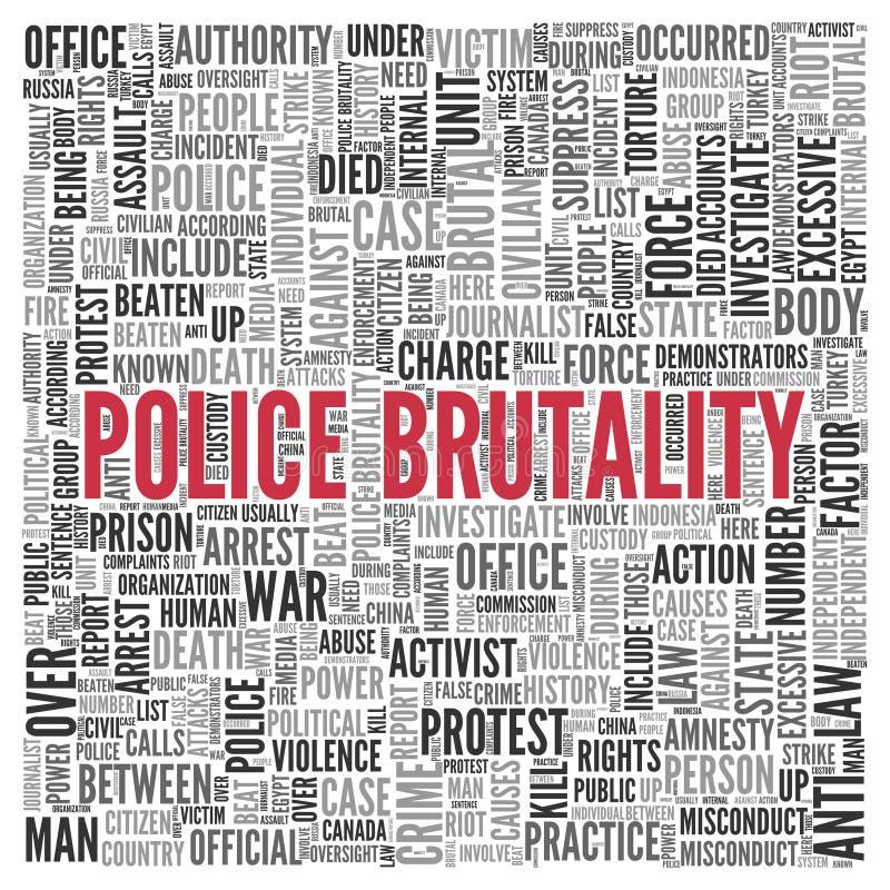 Conception de nuage de tags de Word de concept de BRUTALITÉ de POLICE illustration de vecteur
