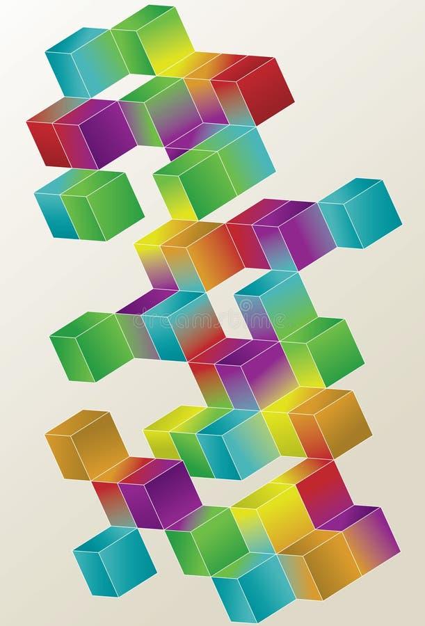 Conception de page de cube en gradient illustration de vecteur