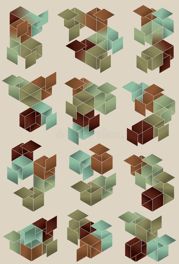 Conception de page de cube en gradient illustration libre de droits