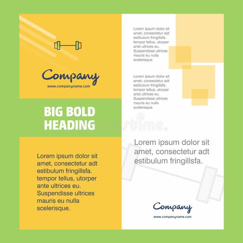 Conception de page titre de brochure de compagnie de tige de gymnase Profil d'entreprise, rapport annuel, présentations, fond de  illustration stock