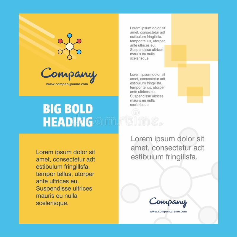 Conception de page titre de brochure de Network Company Profil d'entreprise, rapport annuel, présentations, fond de vecteur de tr illustration libre de droits
