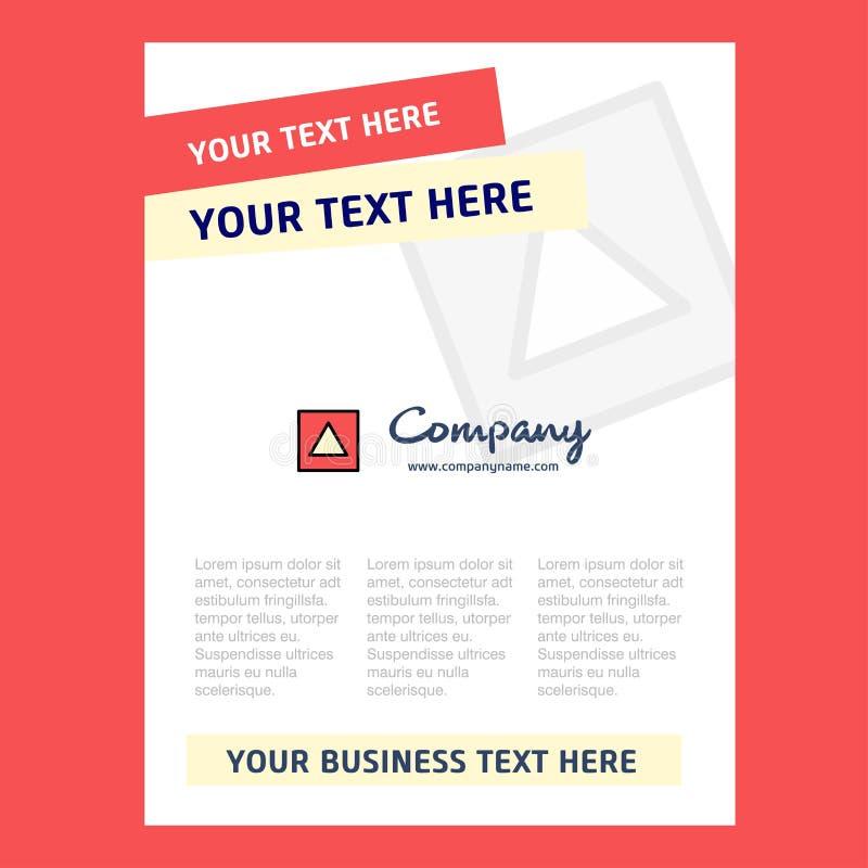 Conception de page titre de forme de Traingle pour le profil d'entreprise, rapport annuel, présentations, tract, fond de vecteur  illustration stock