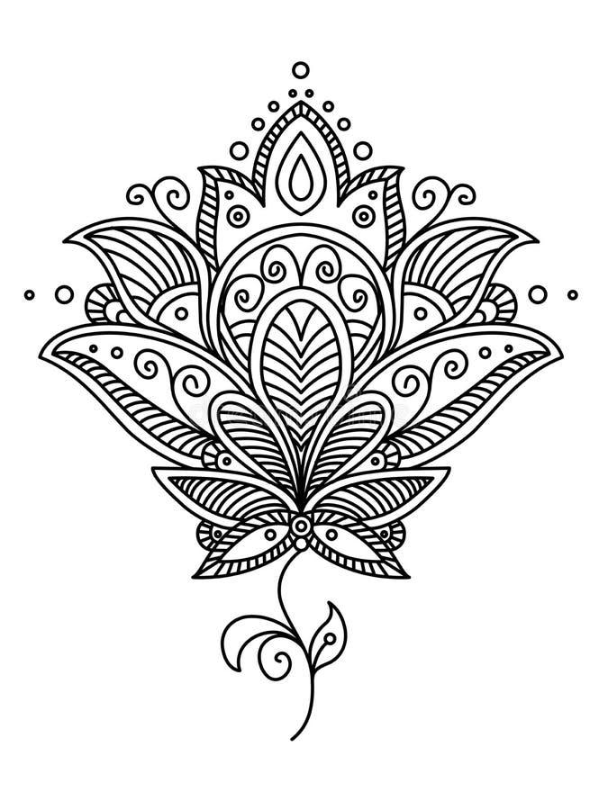 Conception de Paisley de Persan illustration libre de droits