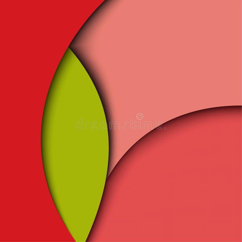 Conception de papier abstraite créatrice illustration de vecteur