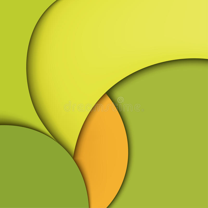 Conception de papier abstraite moderne colorée. Brochure illustration libre de droits