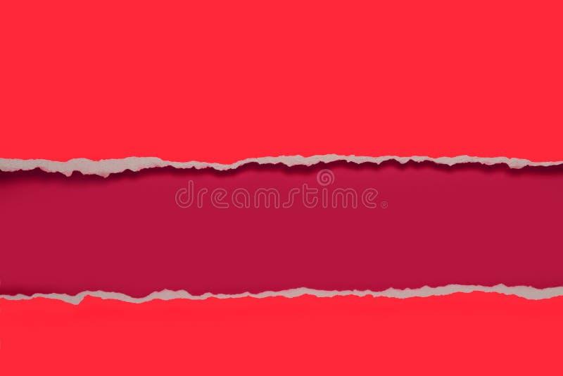 Conception de papier de déchirure image stock