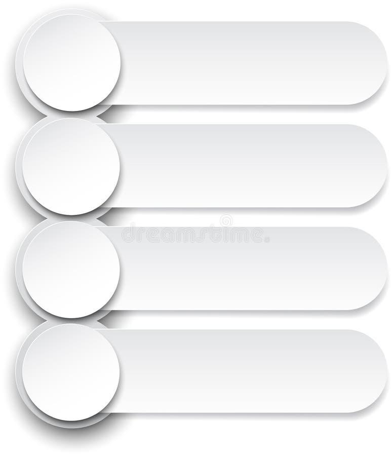 Conception de papier d'Infographics. illustration libre de droits