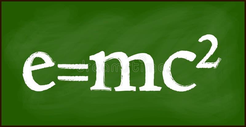Conception de papier peint de bannière de fond du tableau noir E = mc2 belle illustration de vecteur