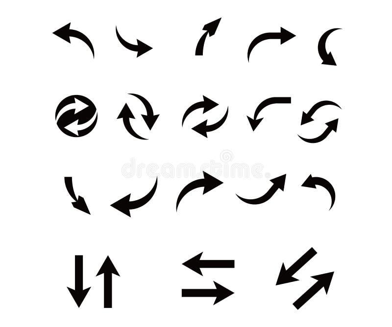 Conception de paquet d'icône de flèche illustration stock