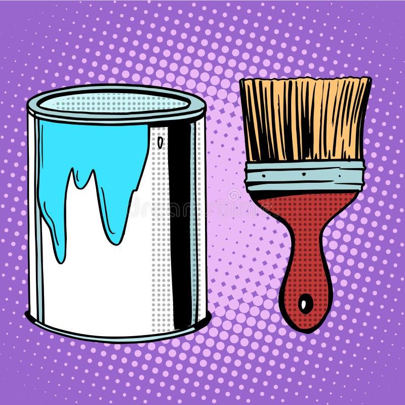 Conception de peinture de travail de pinceau illustration libre de droits