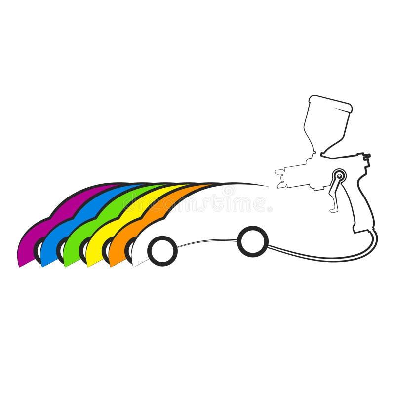 Conception de peinture de voiture illustration libre de droits