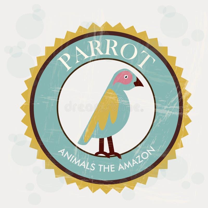Conception de perroquet illustration de vecteur