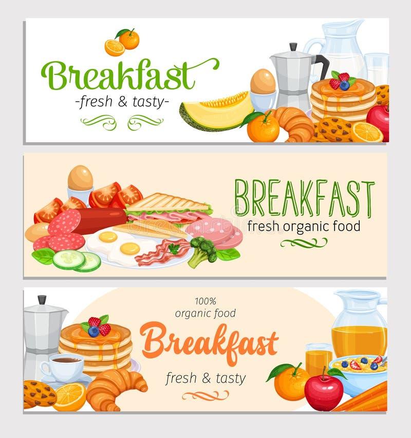 Conception de petit déjeuner illustration libre de droits
