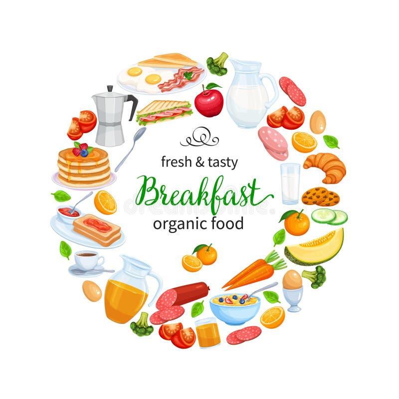 Conception de petit déjeuner illustration stock