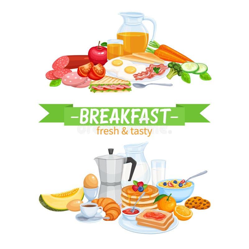 Conception de petit déjeuner illustration de vecteur