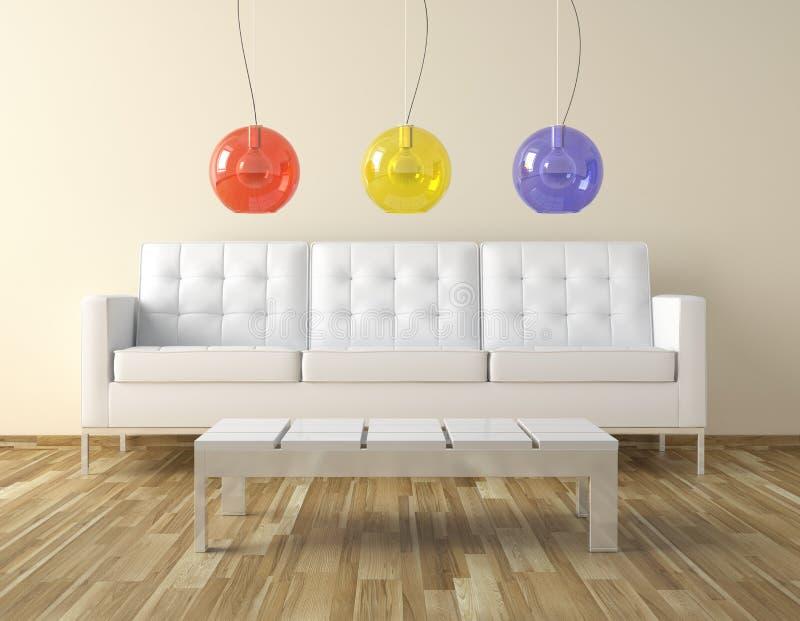 Conception de pièce d'Interor avec des couleurs illustration de vecteur